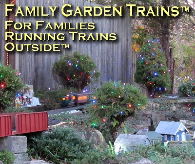 Family Garden Trains. This is Paul's New Boston and Donnels' Creek in November, 2015. Click for a bigger photo.