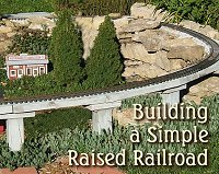 Building a railroad with 2x6s on posts.  Click to go to article.
