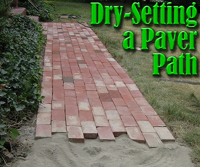 Dry Setting A Paver Path