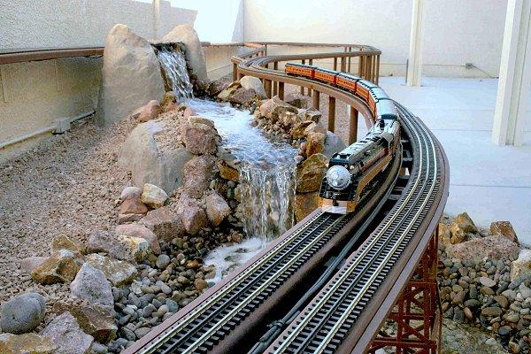 O Gauge Outside B Amp P Garden Railroad Part 6