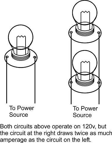 how to find amps in a parallel circuit