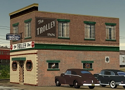 Tim Muir's Virtual Version, renamed the 'Trolley Inn.' Click to go to our Building Fronts page