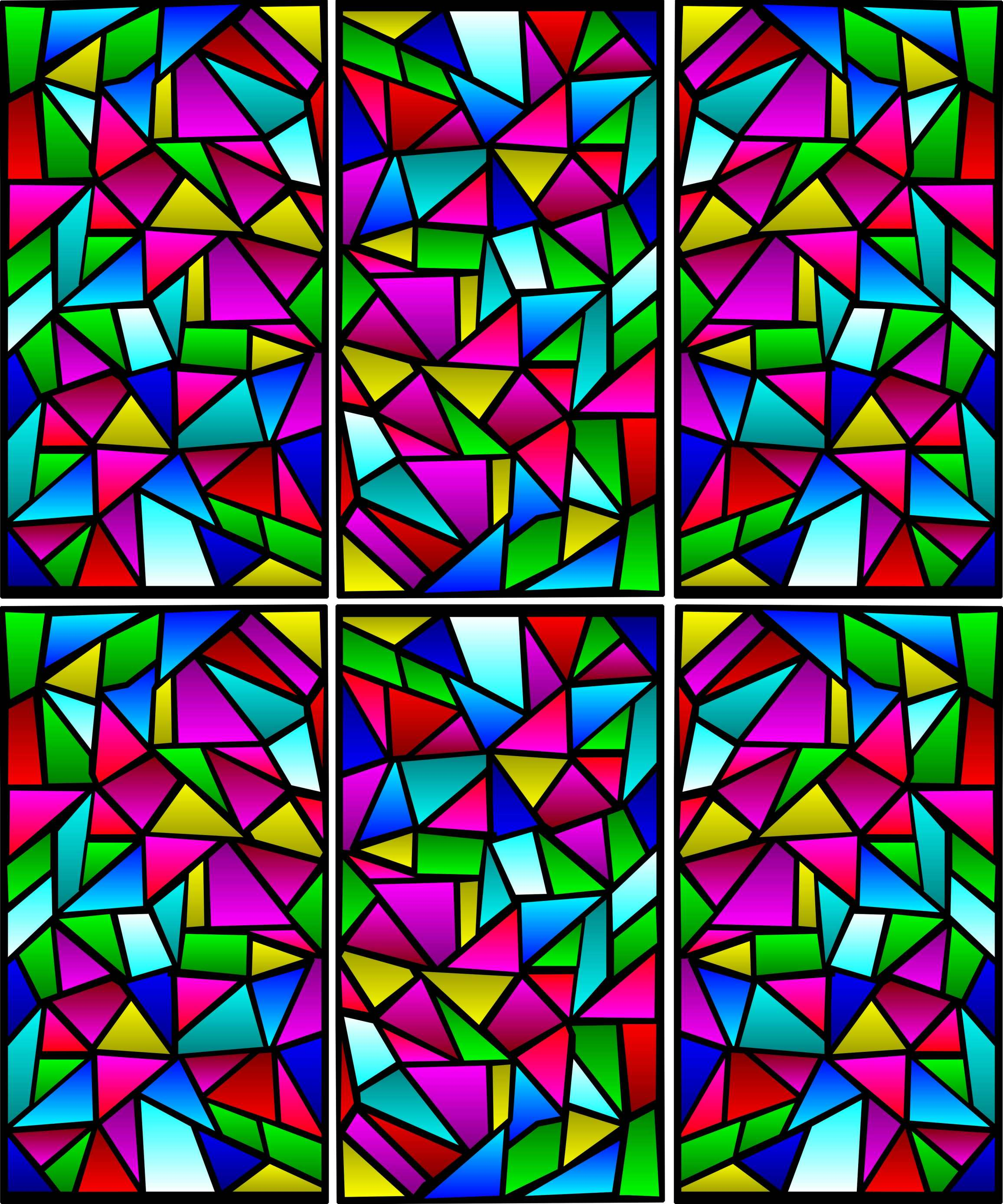 Church Window Drawings From a Corel-draw Clip-art